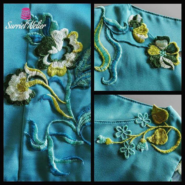 Detalle blusa bordada