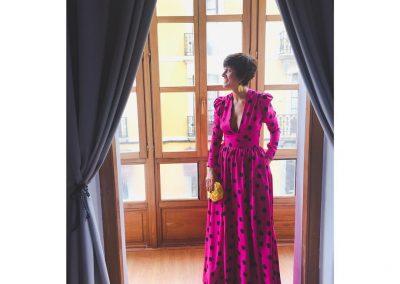 Vestido a medida madrina modista Barcelona Surriel Atelier