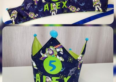 corona de cumpleaños de tela modista barcelona